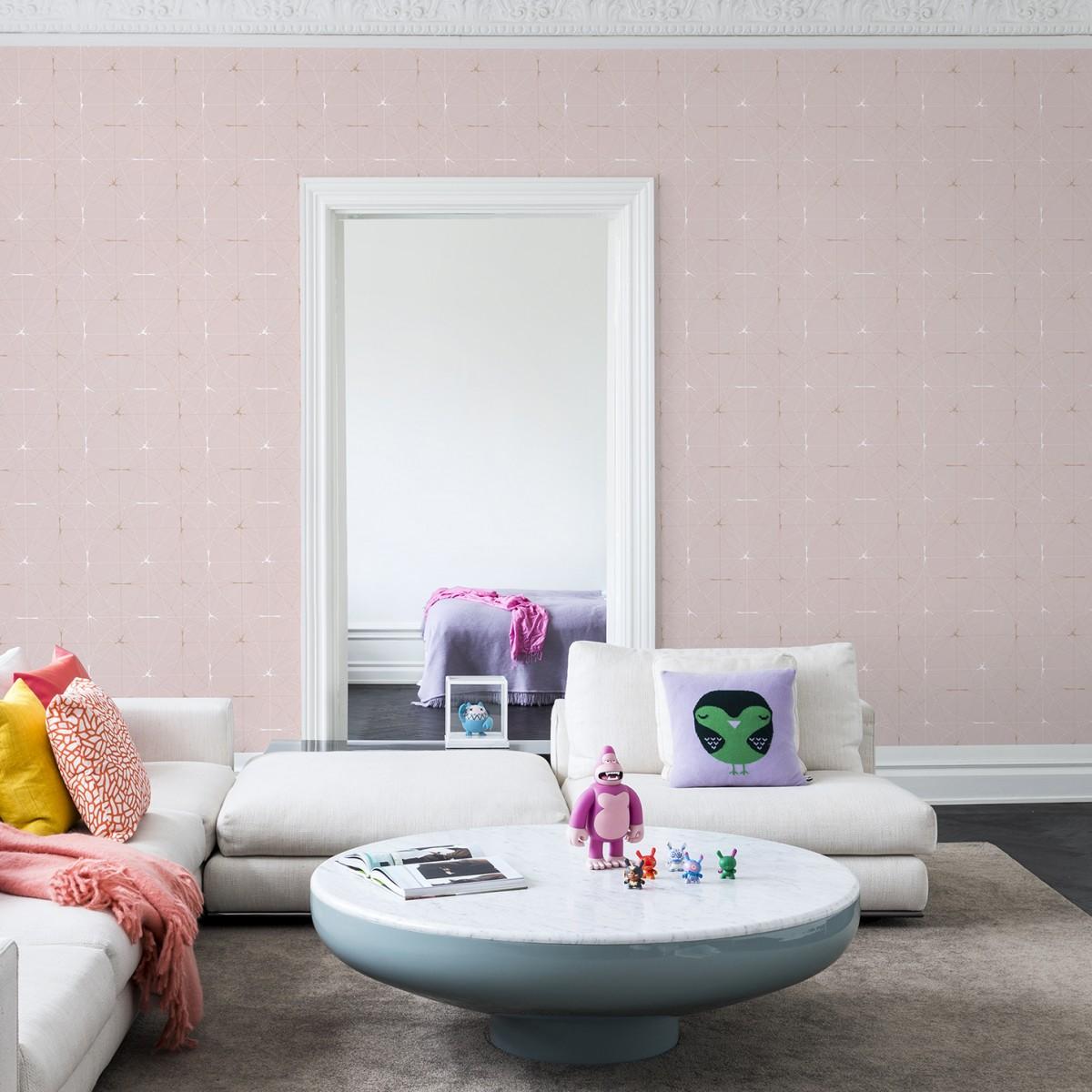 Fototapet Perfect Fit, Powder Pink, personalizat, repetitiv, Rebel Walls