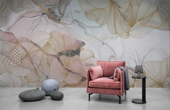 Foto tapet 3D Opulence, Pink Marble, personalizat, Rebel Walls