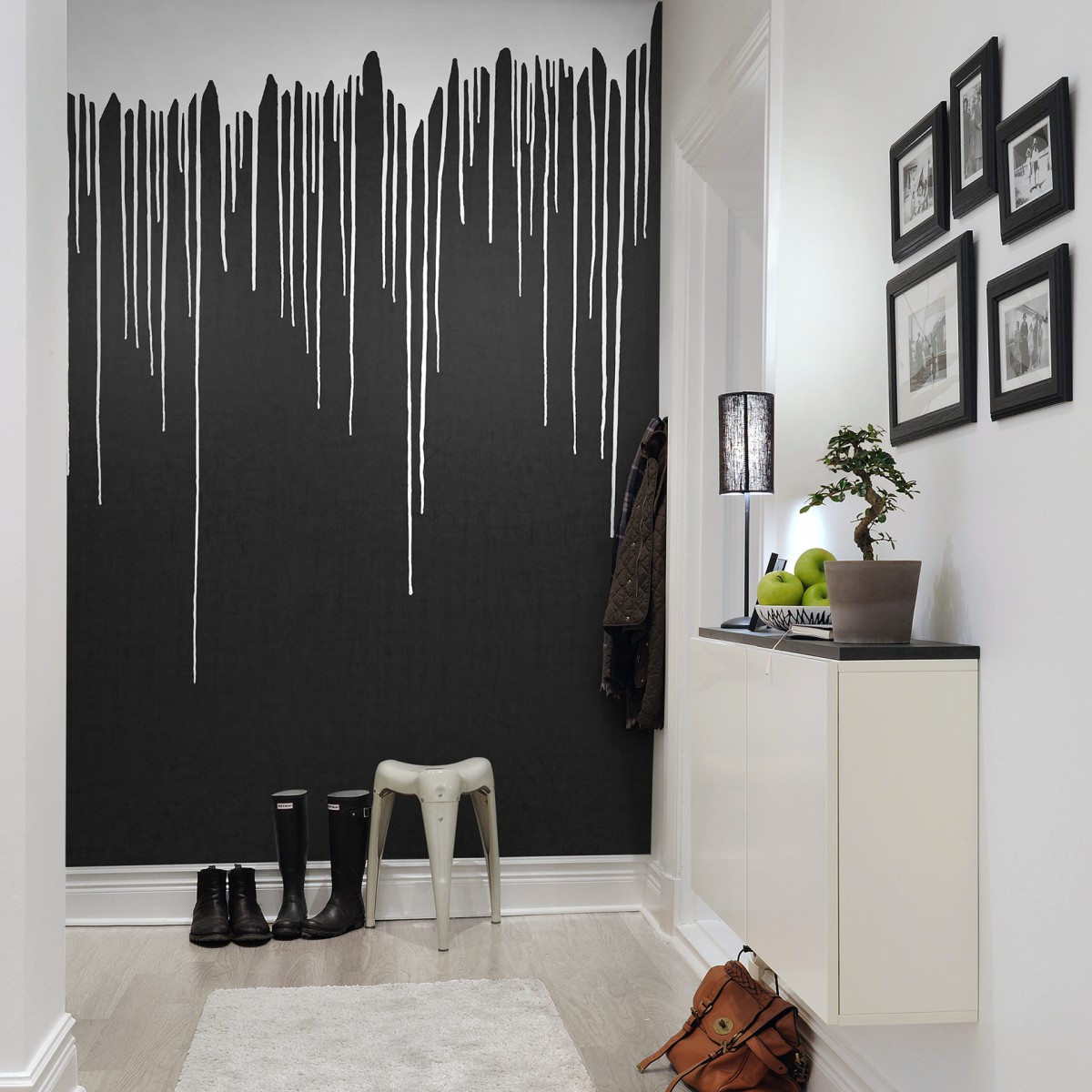 Fototapet White Rain, personalizat, Rebel Walls