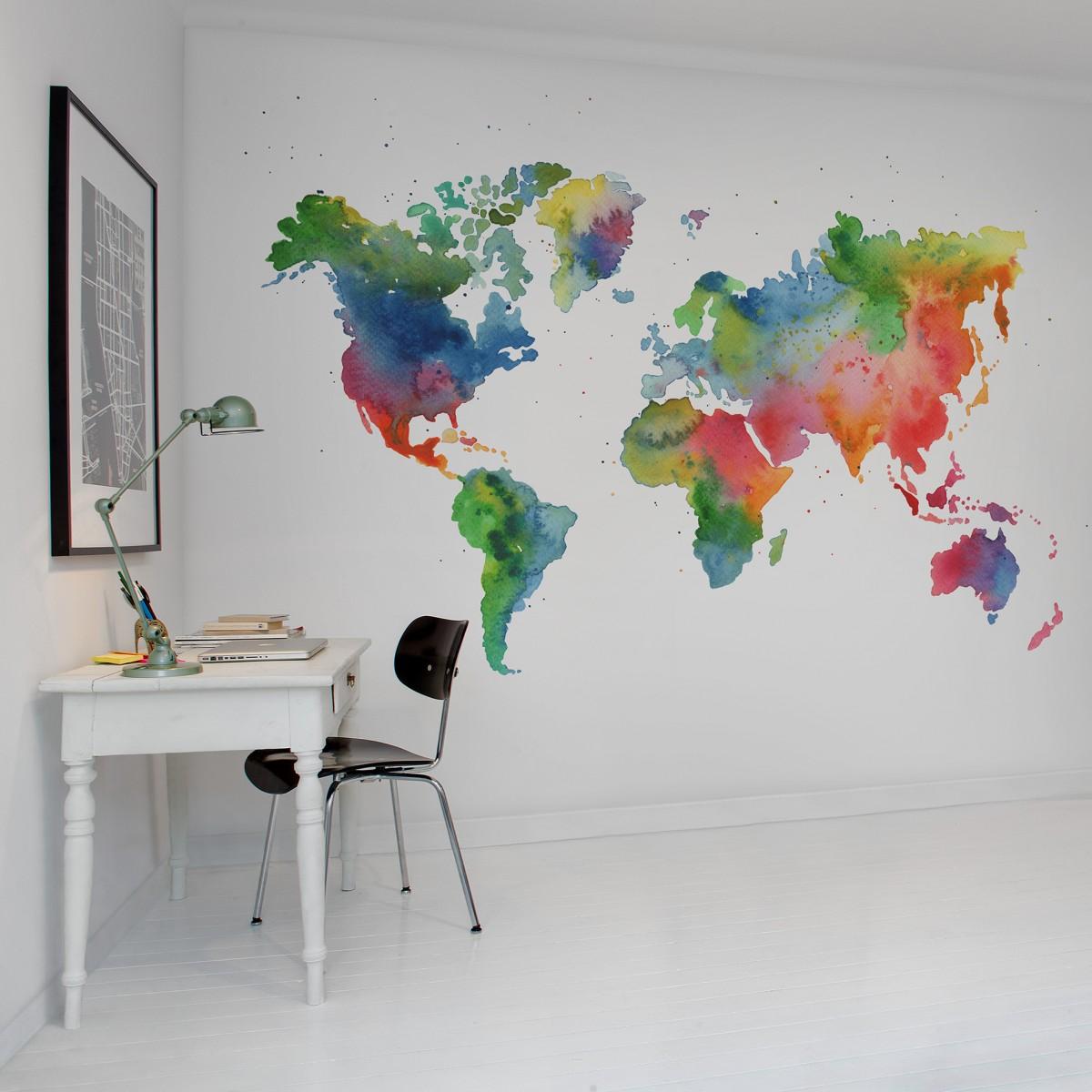 Fototapet Rainbow World, personalizat, Rebel Walls