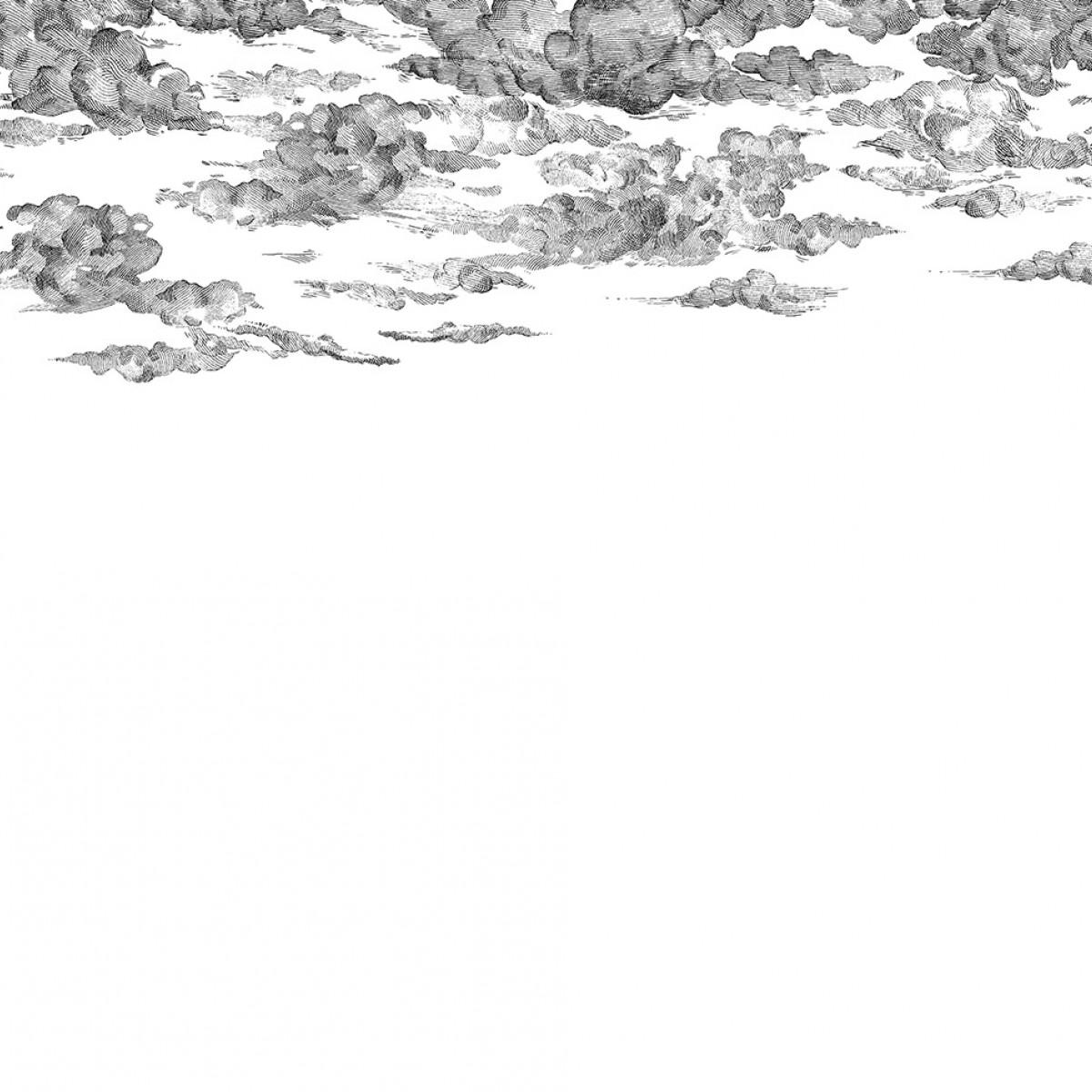 Fototapet Cotton Skies, Black, personalizat, Rebel Walls