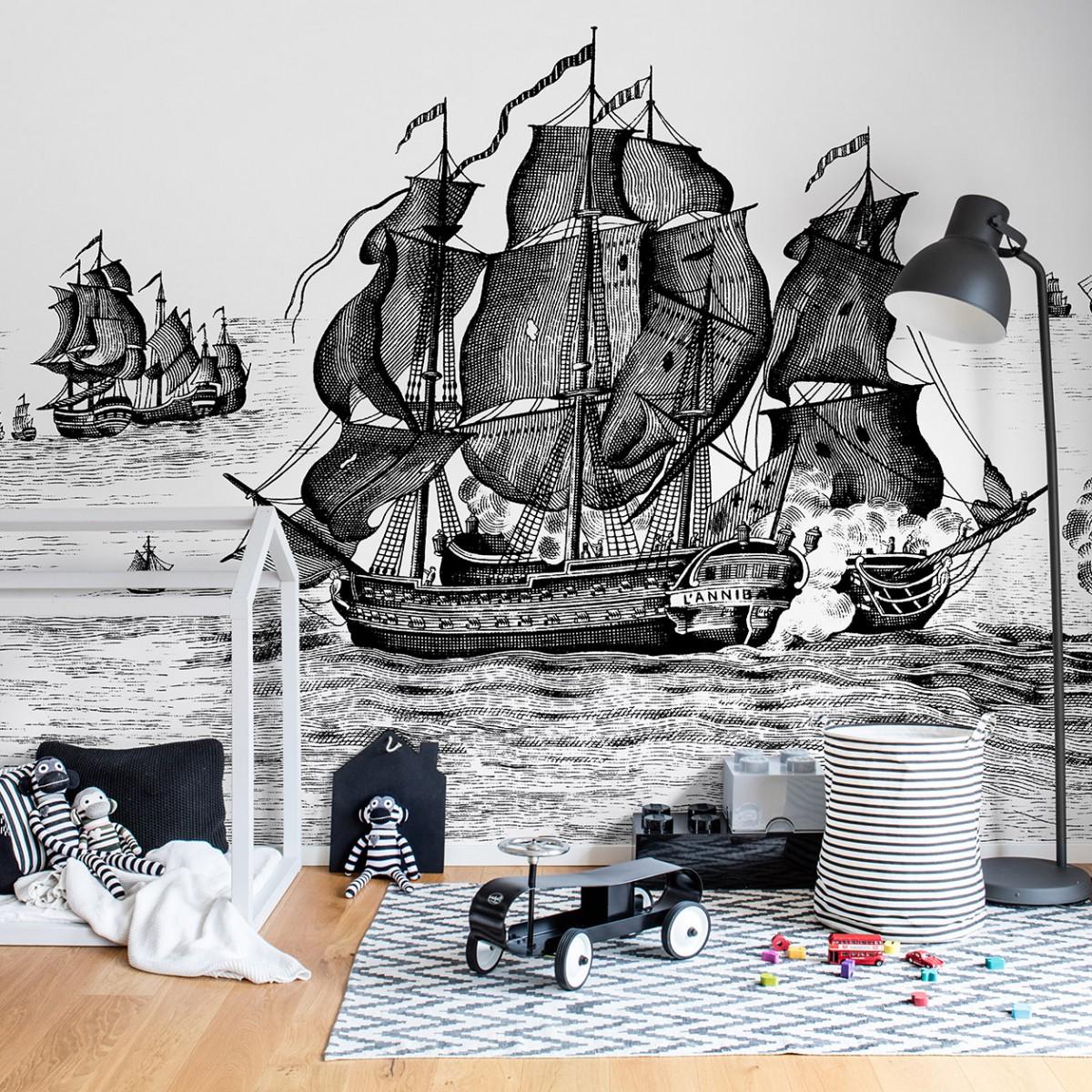 Fototapet High Seas, Black, personalizat, Rebel Walls