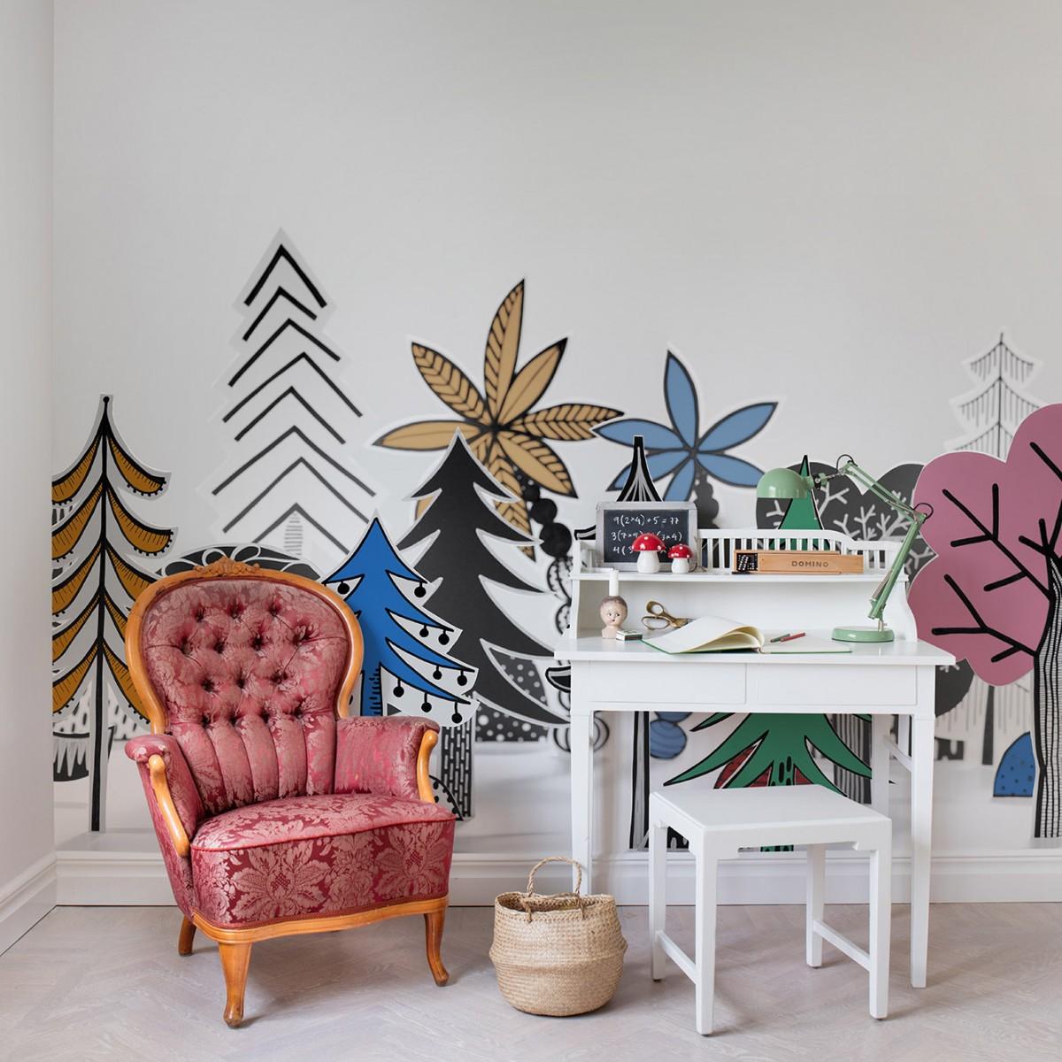 Fototapet Nordic Valley, Color, personalizat, Rebel Walls
