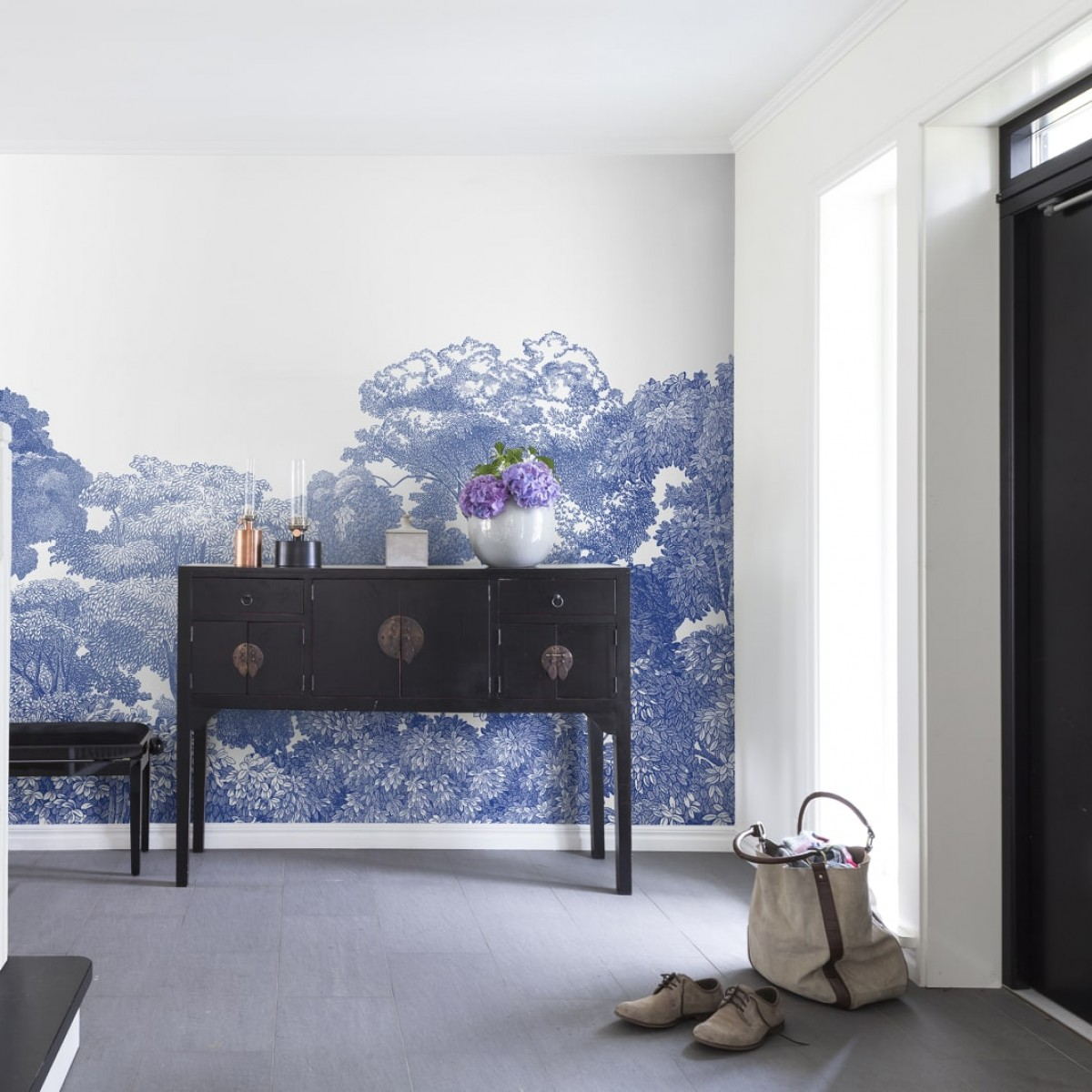 Foto tapet Bellewood, Porcelain Toile, personalizat, Rebel Walls