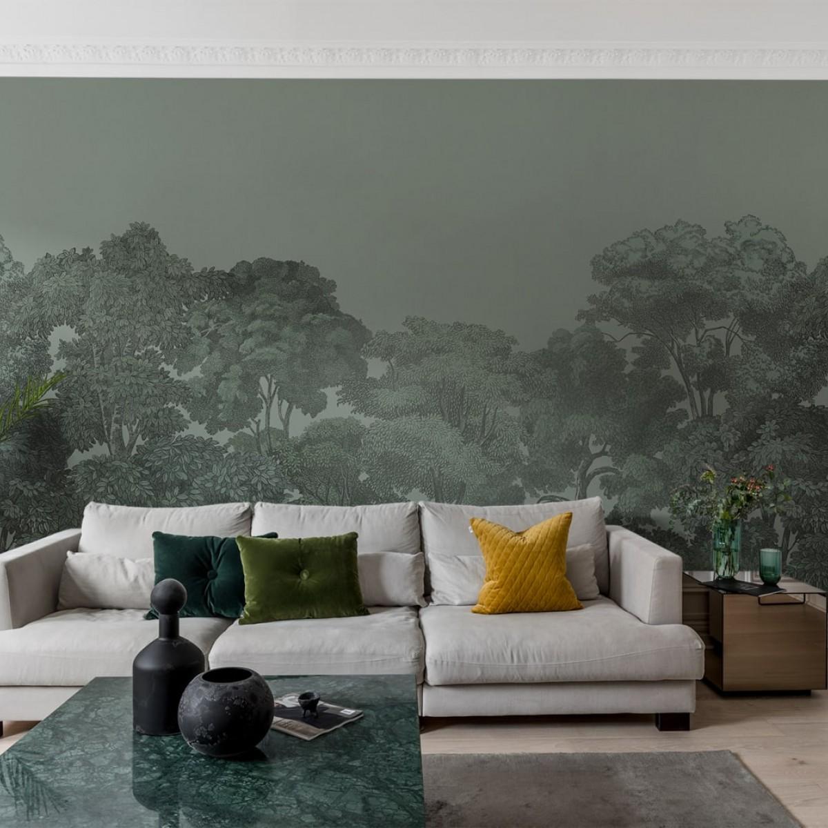 Foto tapet Bellewood, Solid Green, personalizat, Rebel Walls