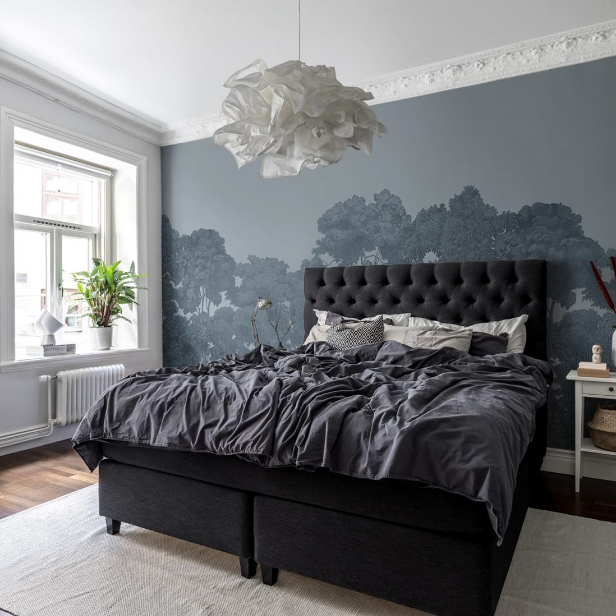 Foto tapet 3D  Bellewood, Solid Blue personalizat, Rebel Walls