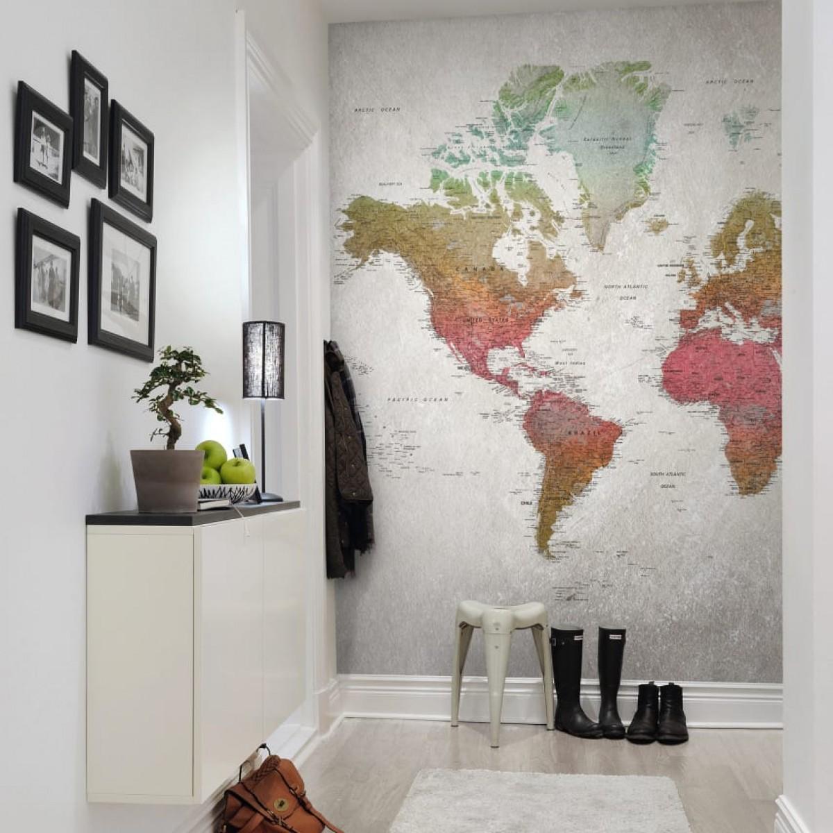 FOTOTAPET School Atlas, Rainbow, 292x252cm, Rebel Walls