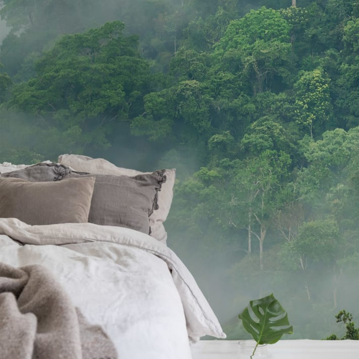 Fototapet Misty Forest, personalizat, Rebel Walls