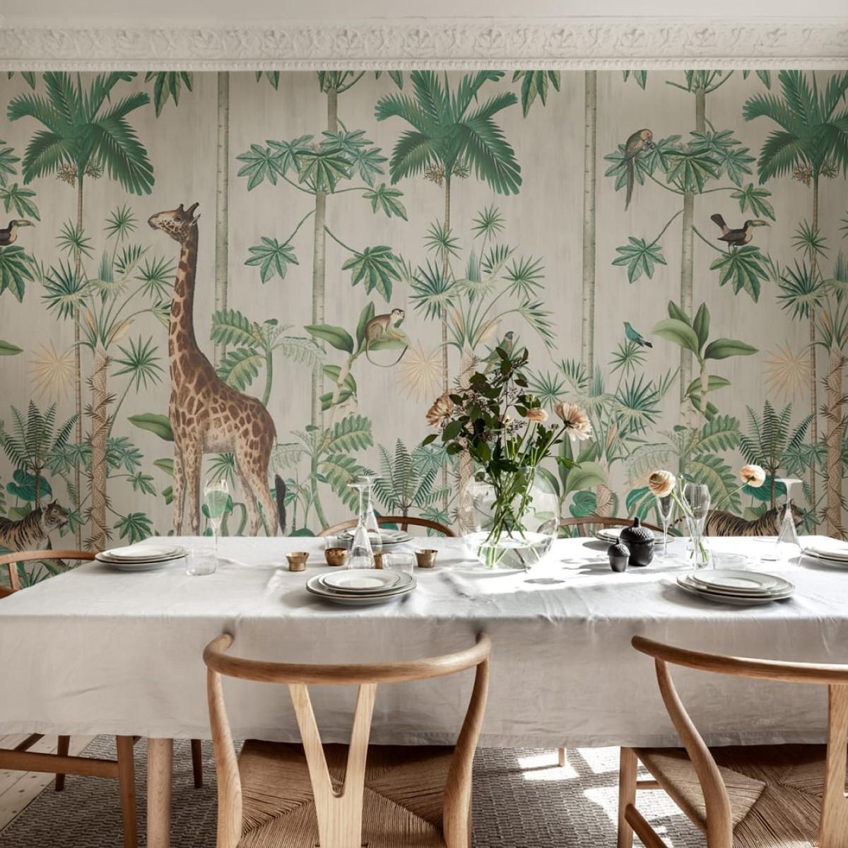 Fototape Giraffe's Stroll, personalizat, Rebel Walls
