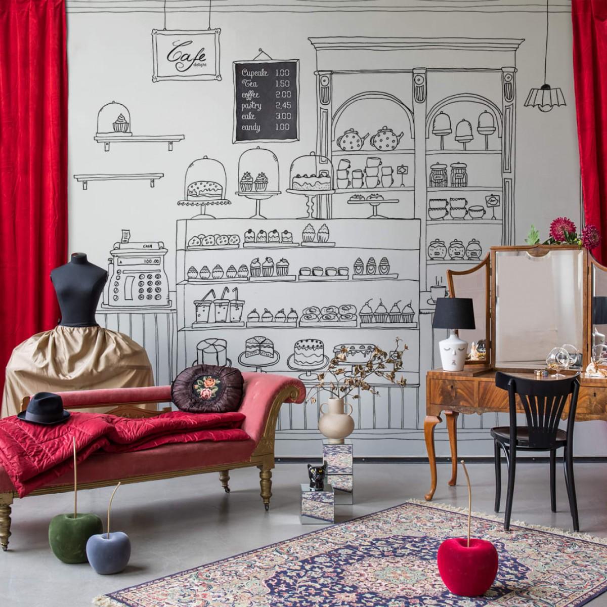Foto tapet 3D  Le Petit Patisserie, personalizat, Rebel Walls