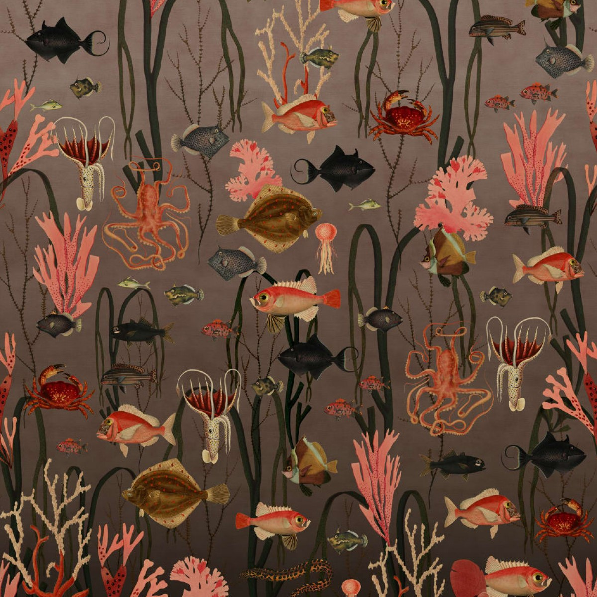 Foto tapet 3D Aquatic Life, Coral, personalizat, Rebel Walls