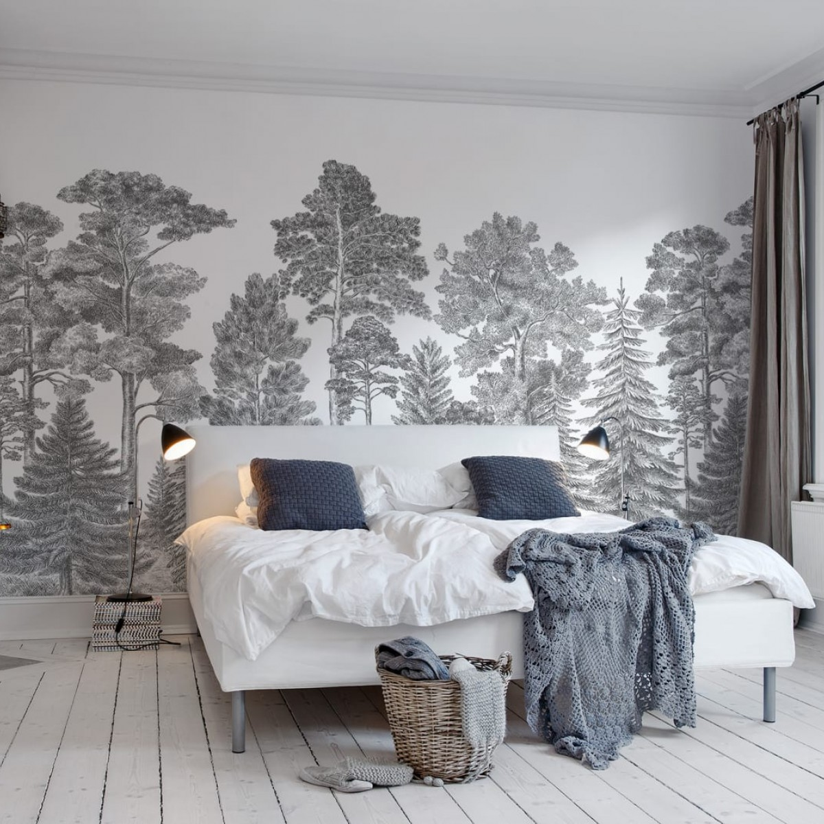 Foto tapet 3D Scandinavian Bellewood, Gray, personalizat, Rebel Walls
