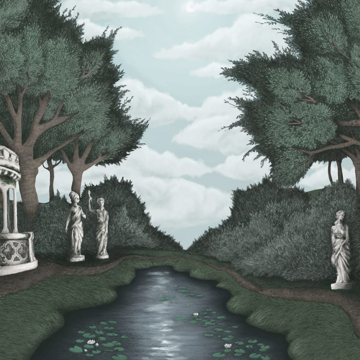 Foto tapet 3D  Victoria's Garden, Day, personalizat, Rebel Walls