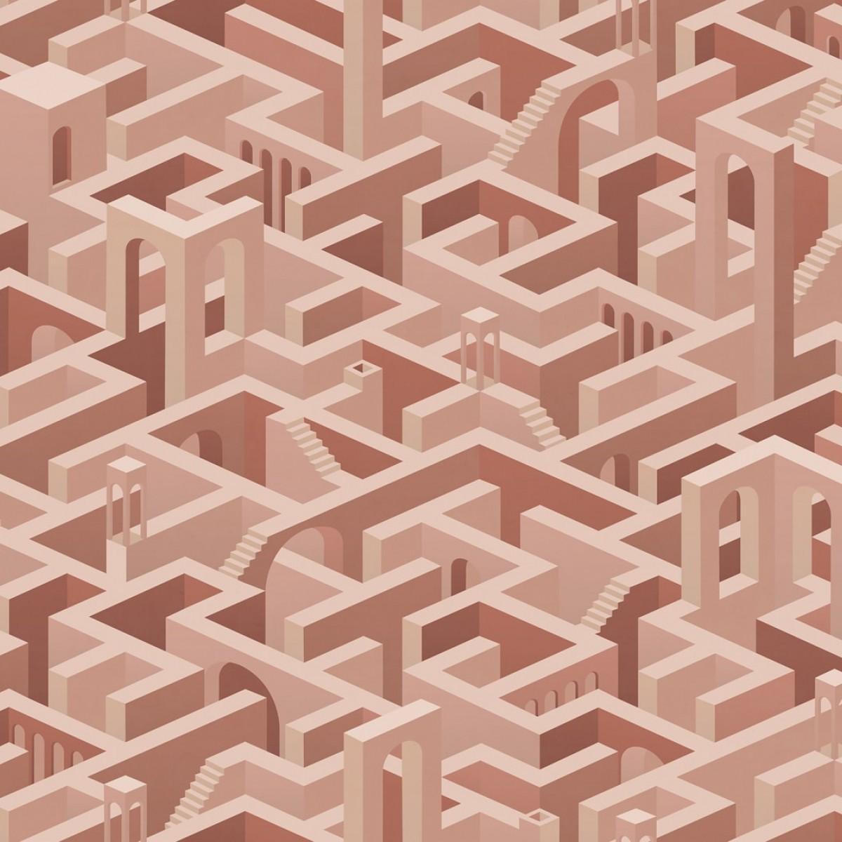 Foto tapet Metropolis, Maze, personalizat, Rebel Walls