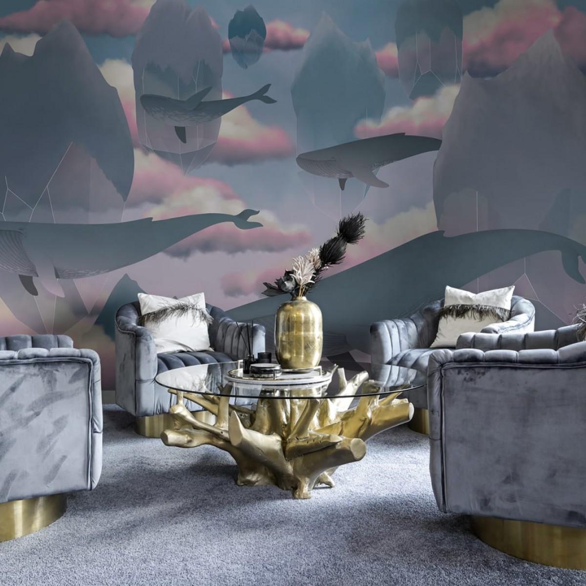 Foto tapet Floating Diamonds, personalizat, Rebel Walls