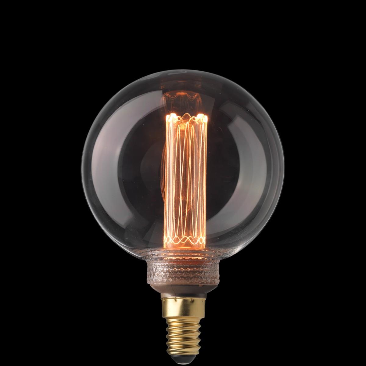 Bec Laser LED filament  dimabil L213, E14, 8cm, lumină caldă