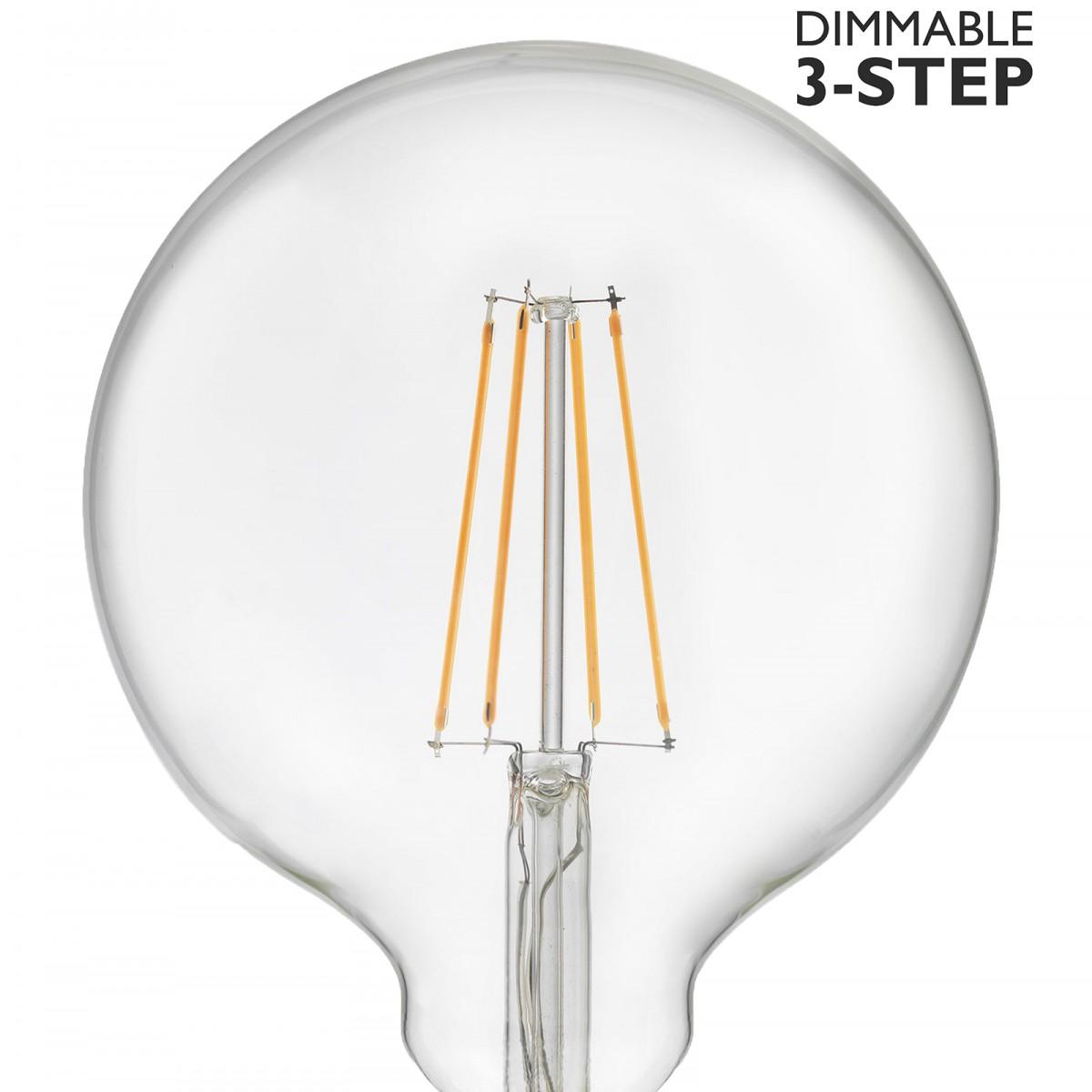 Bec LED dimabil L111, E27, 12.5cm, lumină caldă