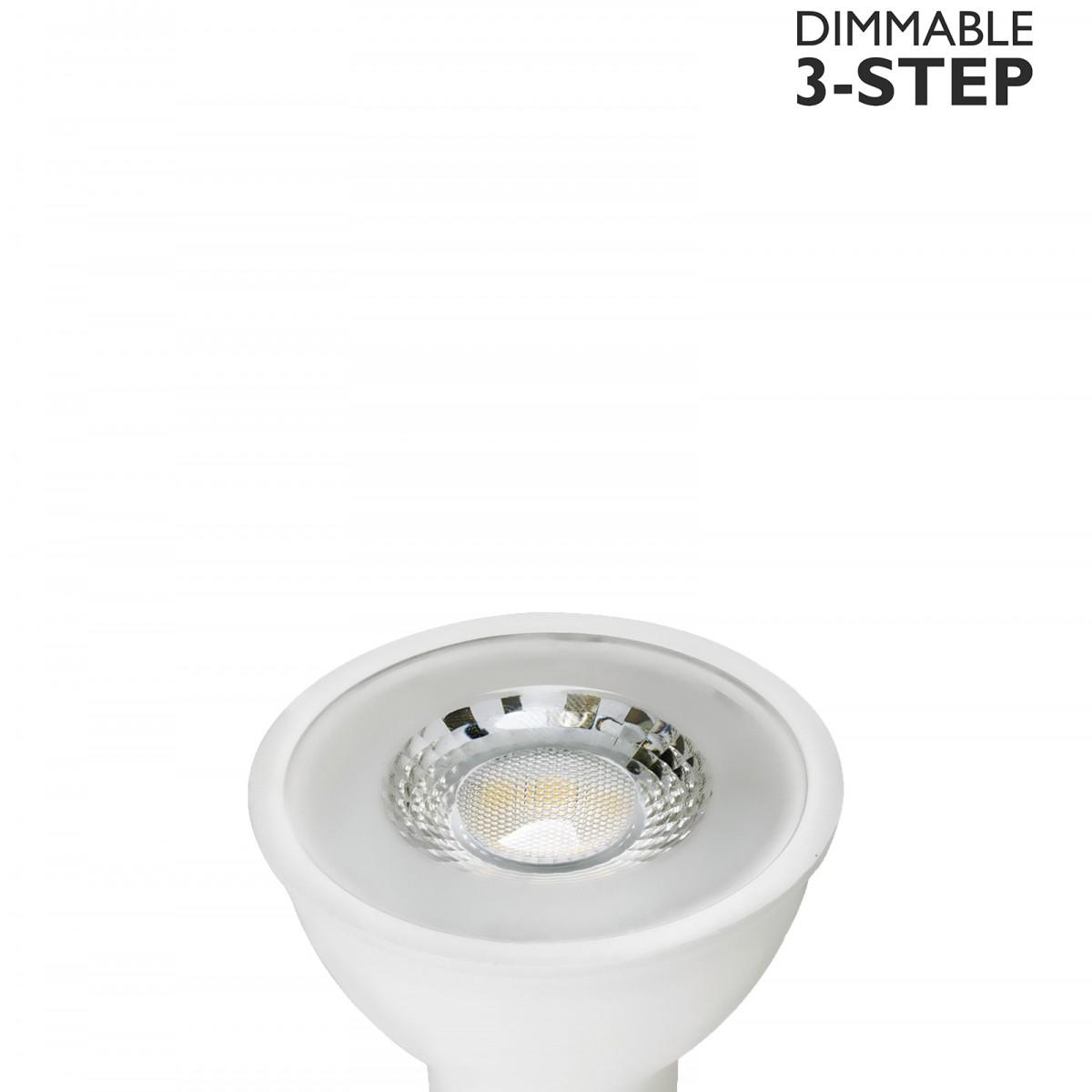 Bec LED dimabil L119, GU10, 5cm, lumină caldă