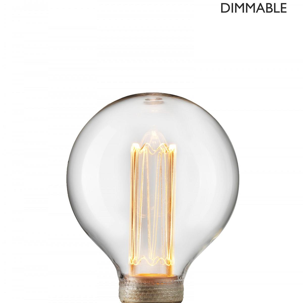 Bec Laser LED filament  dimabil L210, E27, 9.5cm, lumină caldă