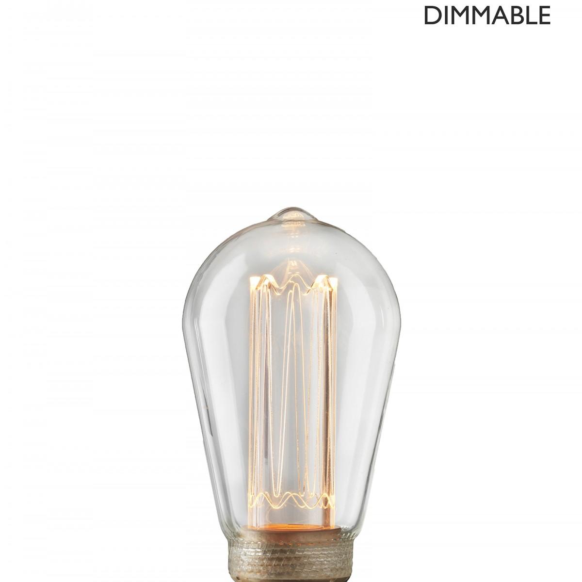 Bec Laser LED filament  dimabil L212, E27, 6.4cm, lumină caldă