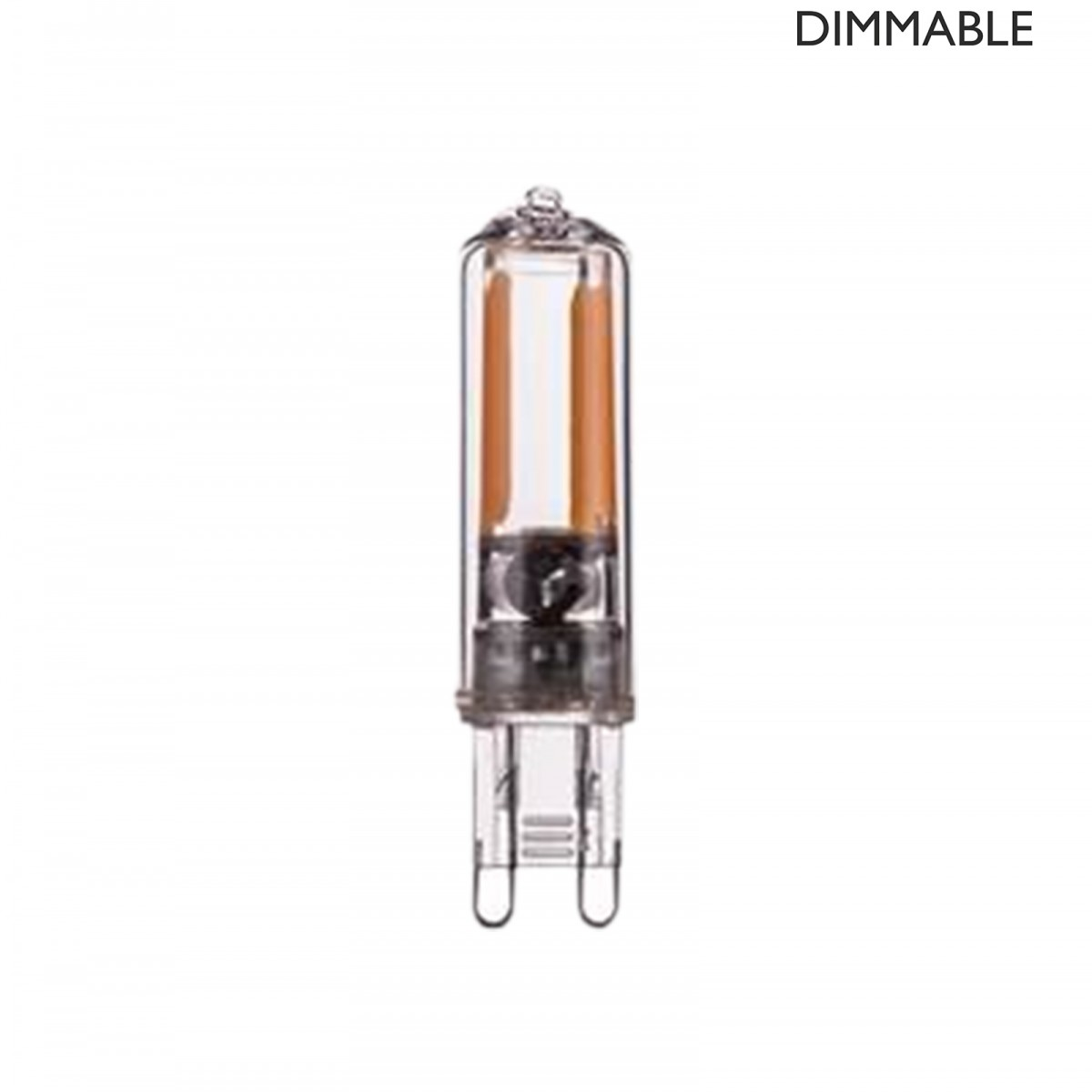 Bec LED filament dimabil L57, G9, 0.7cm, lumină caldă
