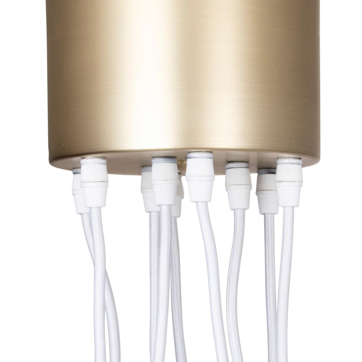 Lampă suspendată Pallas din sticlă albă/transparentă, Globen