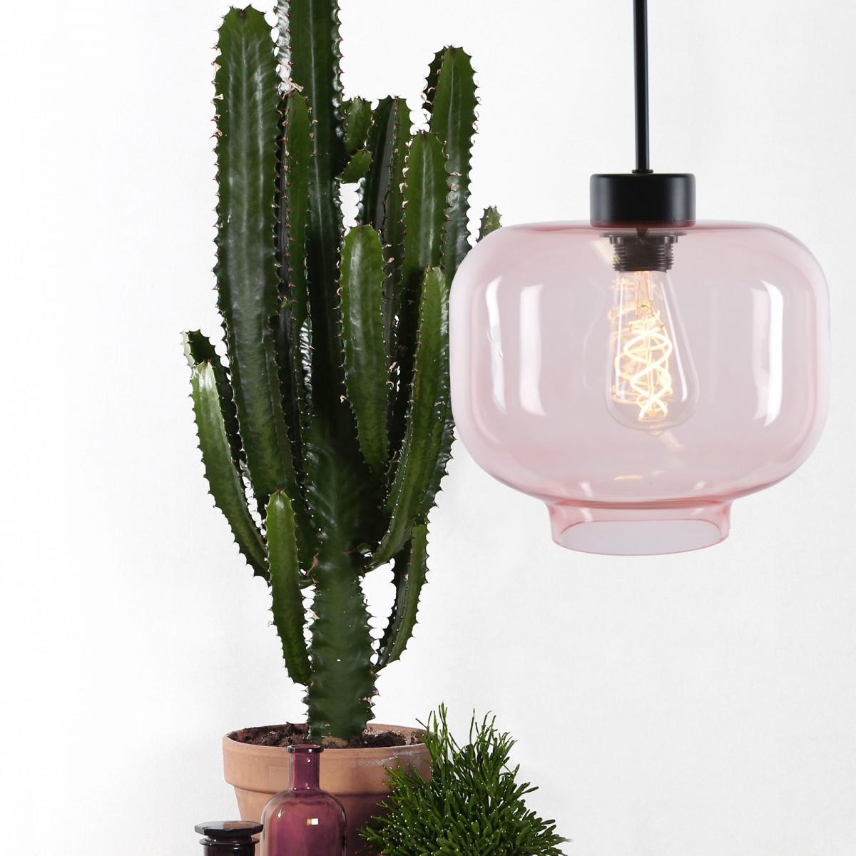 Lampă suspendată Ritz din sticlă multicoloră, Globen