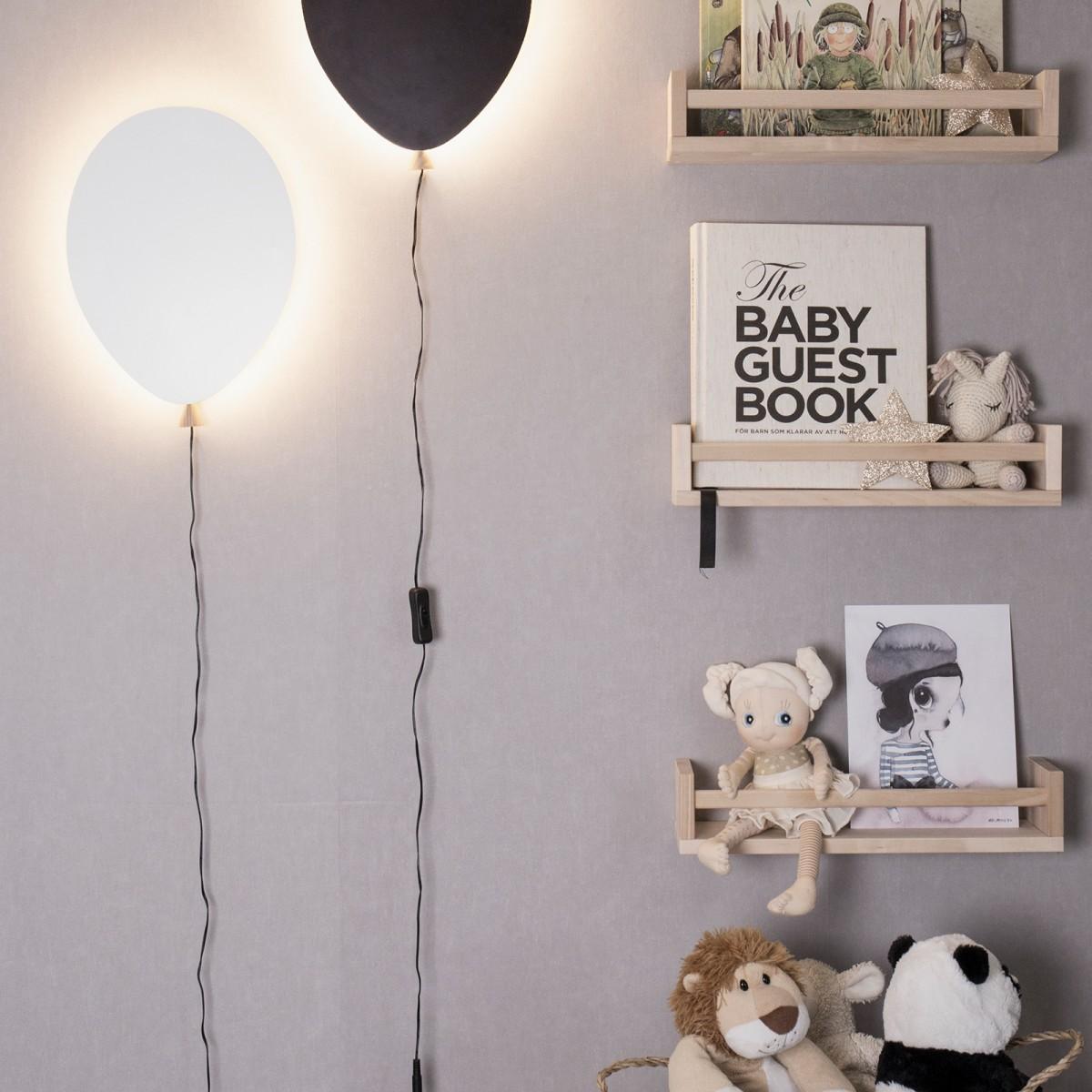 Aplică perete balon albă, neagră, roz, gri, albastra Globen
