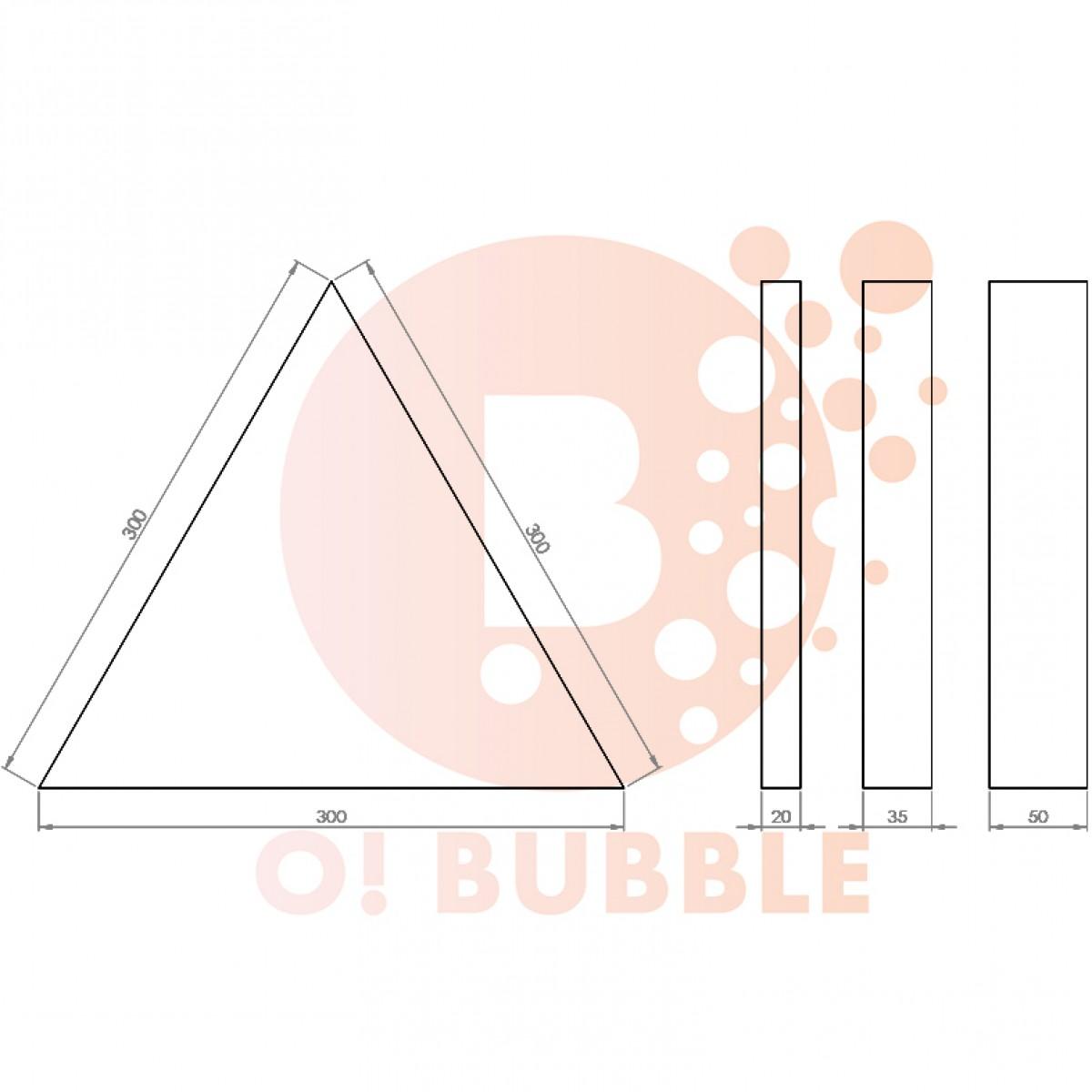 Panou decorativ din burete O!Bubble Trio