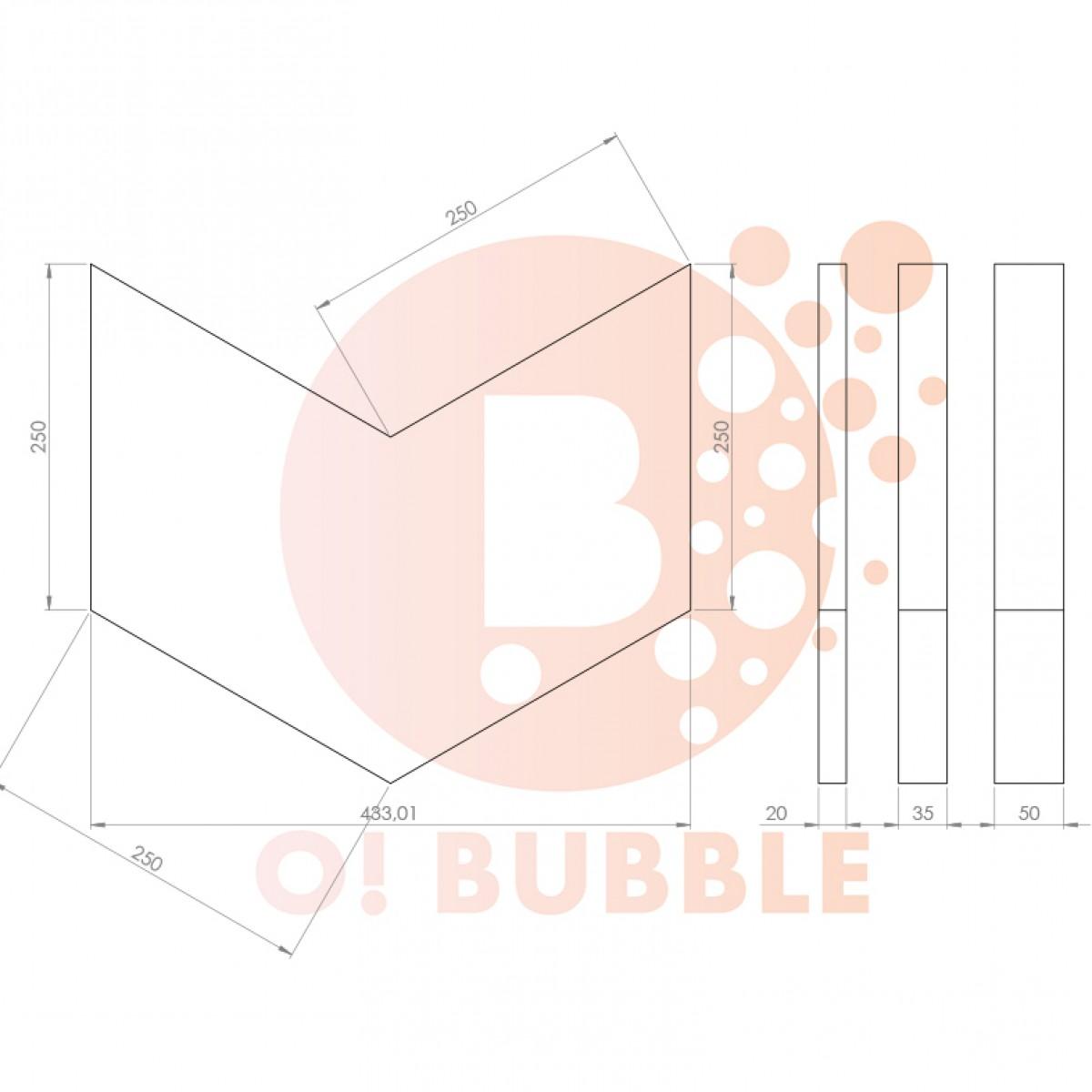 Panou decorativ din burete O!Bubble Insignia