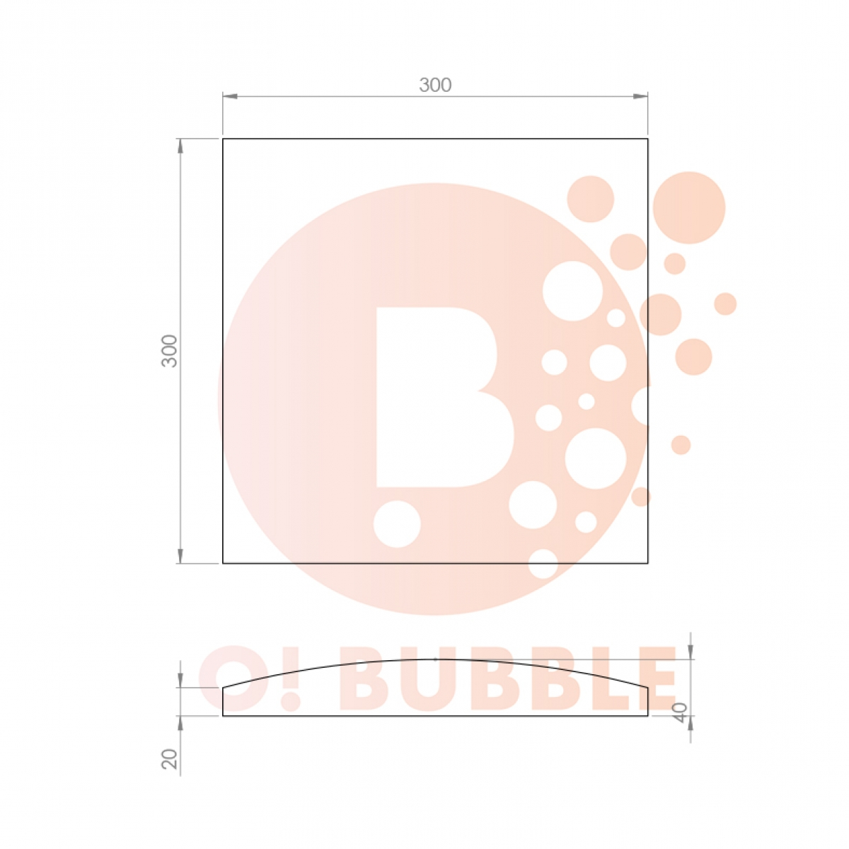 Panou decorativ din burete O!Bubble Boxy