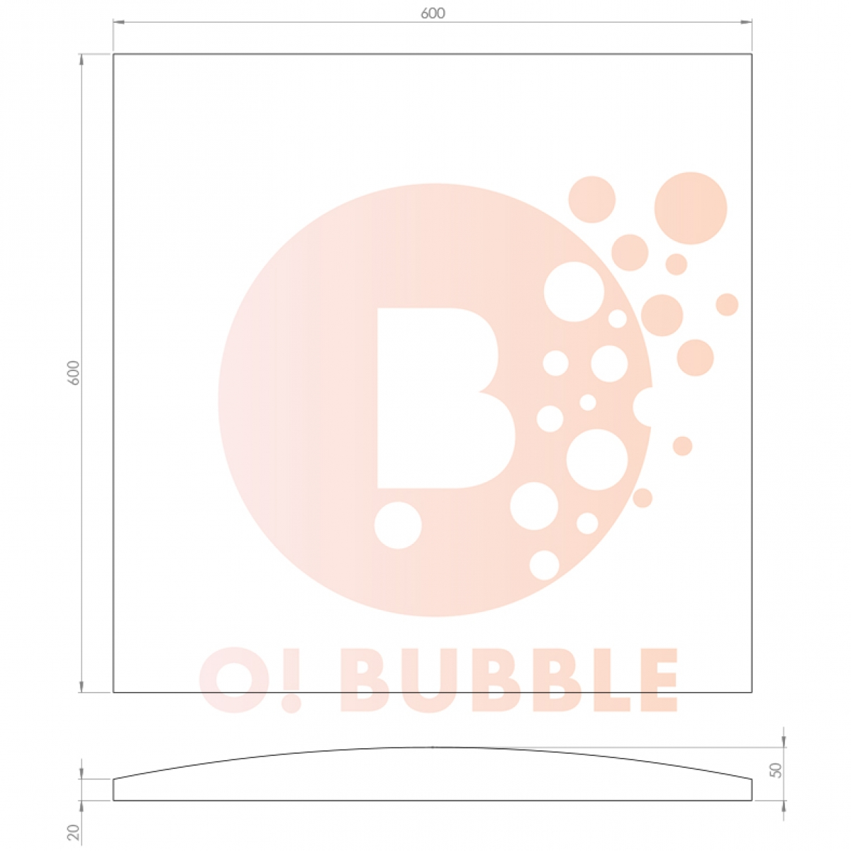 Panou decorativ din burete O!Bubble Match