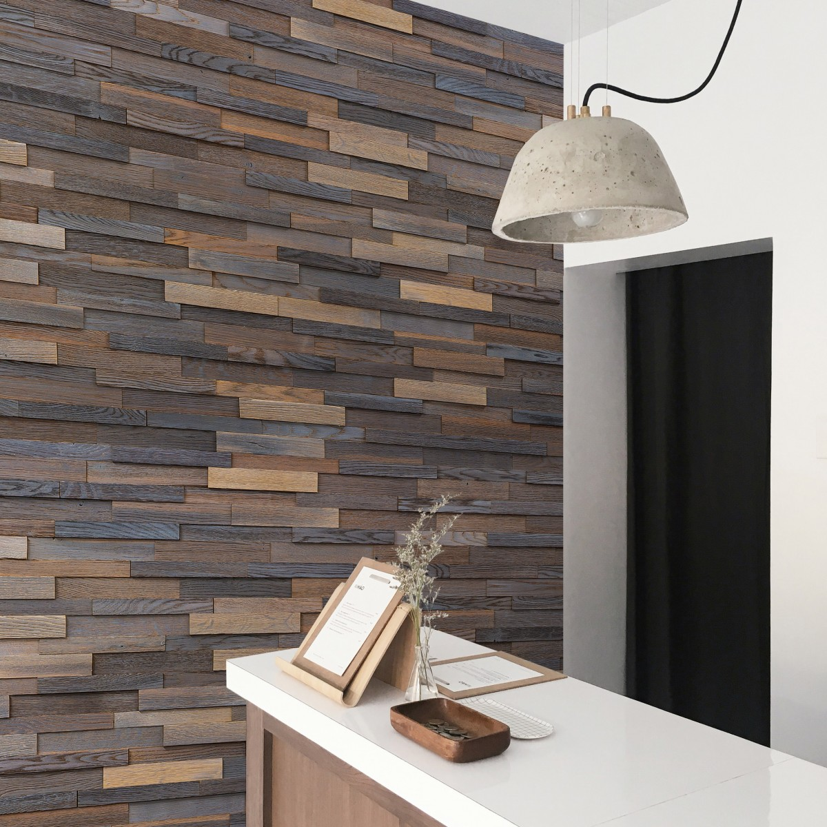 Panouri decorative din lemn de stejar, Brick Timeless