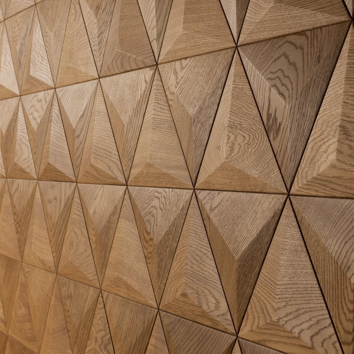 Panouri decorative 3D din lemn de stejar Pyramid