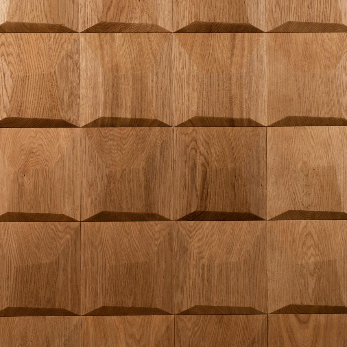 Panouri decorative 3D din lemn de stejar Pillow