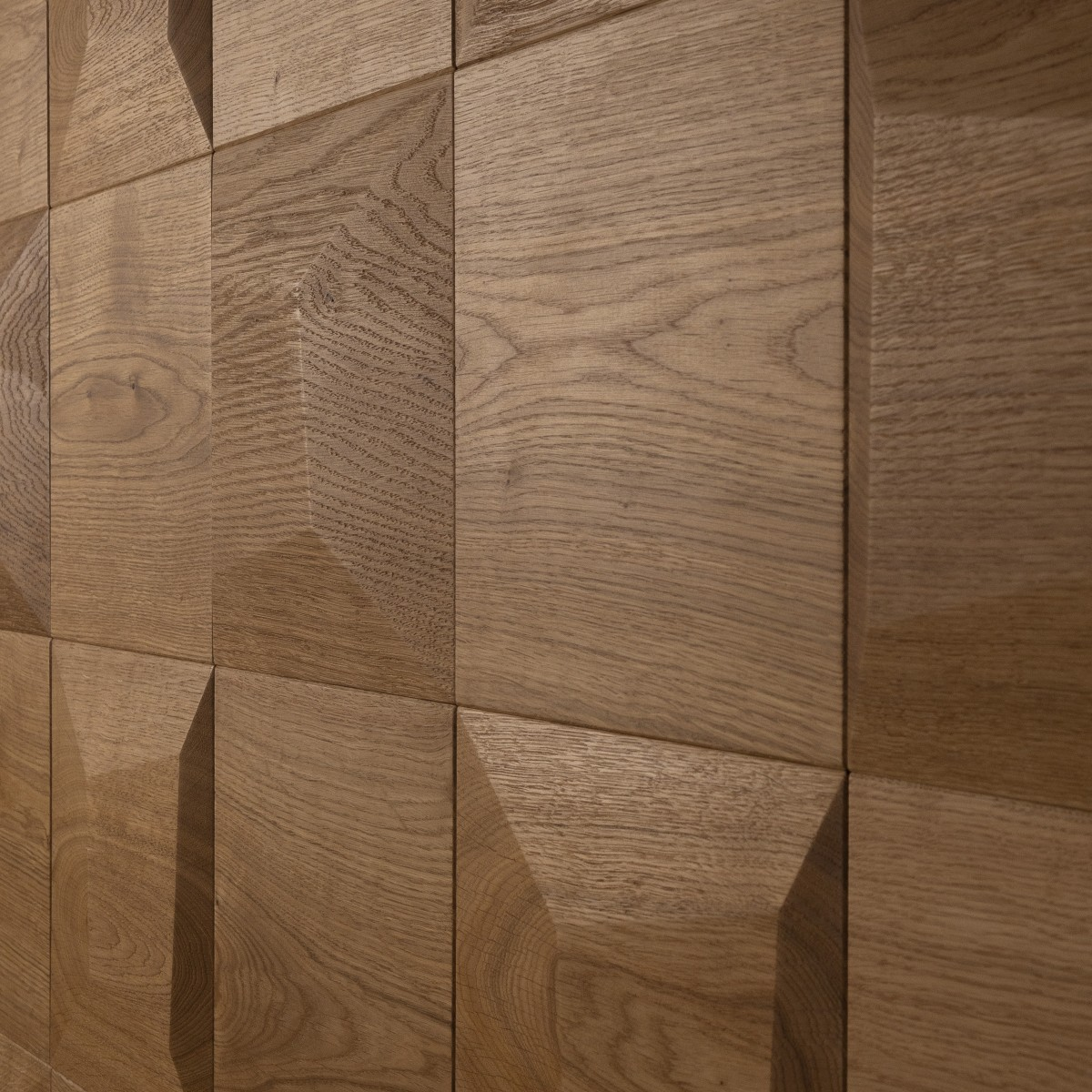 Panouri decorative 3D din lemn de stejar Square Flat