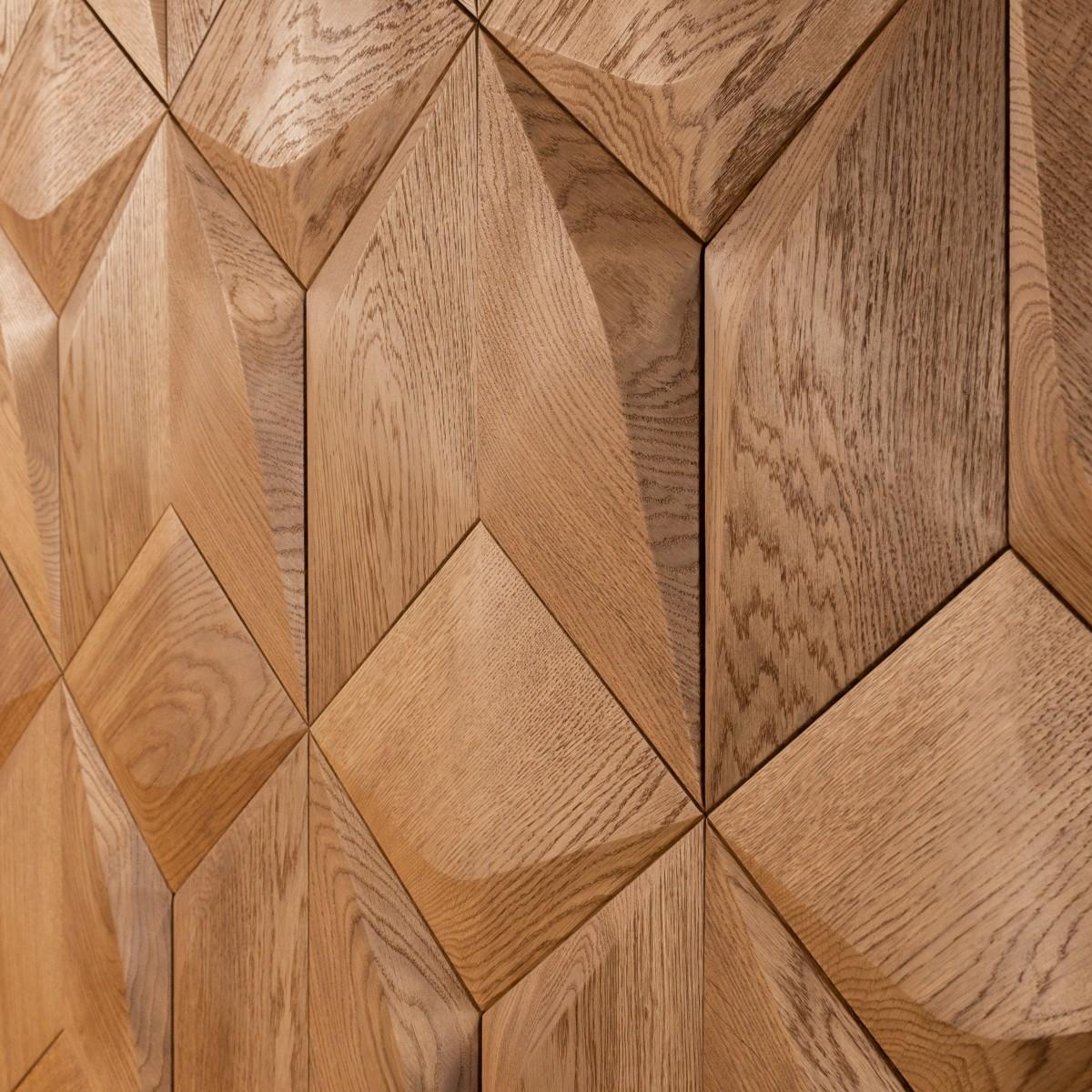 Panouri decorative 3D din lemn de stejar Caro Minus