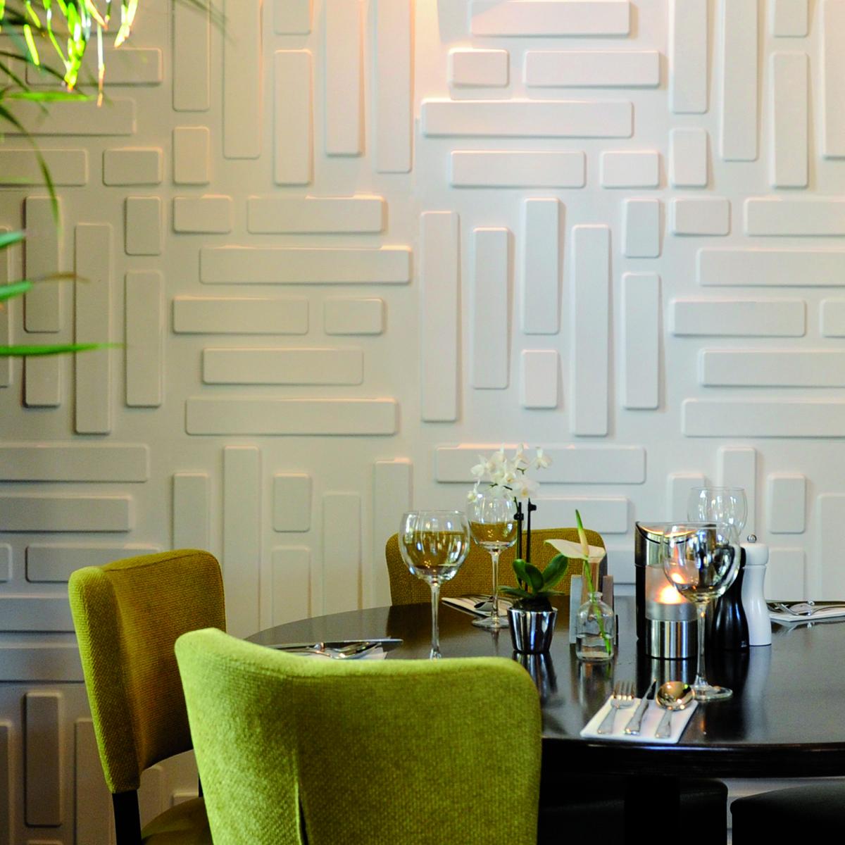 Panouri decorative 3D Bricks WallArt, 12 placi 50x50cm