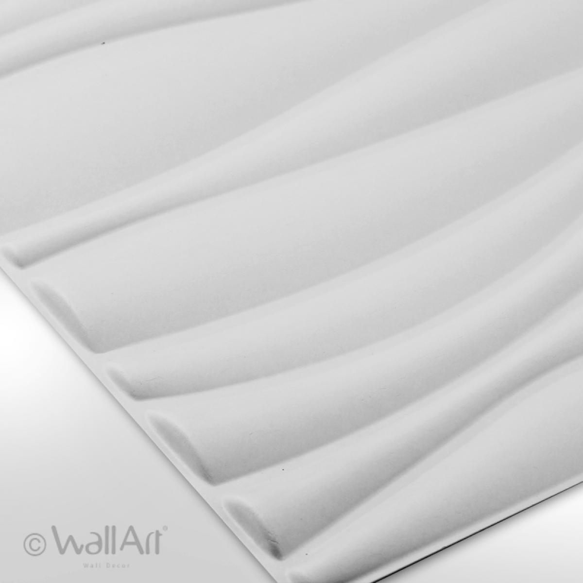 Panouri decorative 3D Waves WallArt, 12 placi 50x50cm