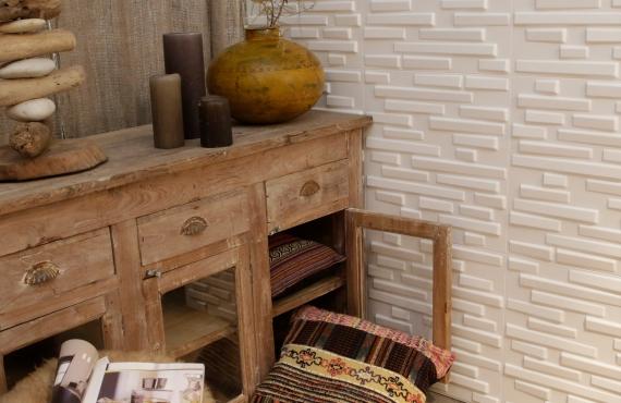 Panouri decorative 3D Ventura, WallArt, 12 placi 50x50cm - WRT_GA-WA25_Ventura