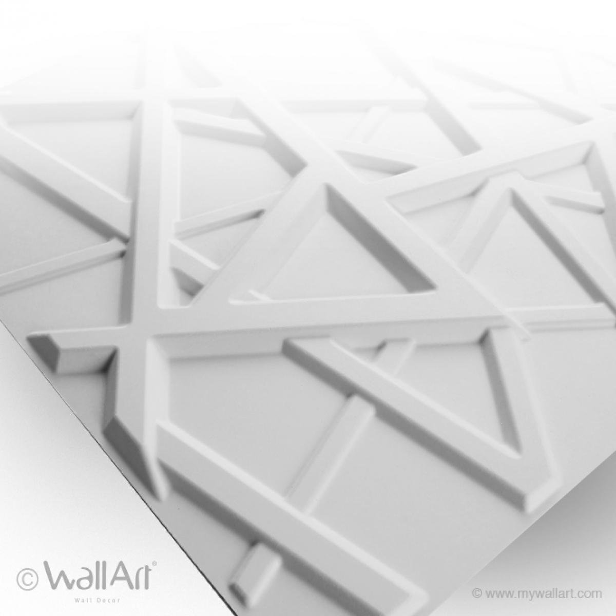 Panouri decorative 3D Olivia, WallArt, 12 placi 50x50cm