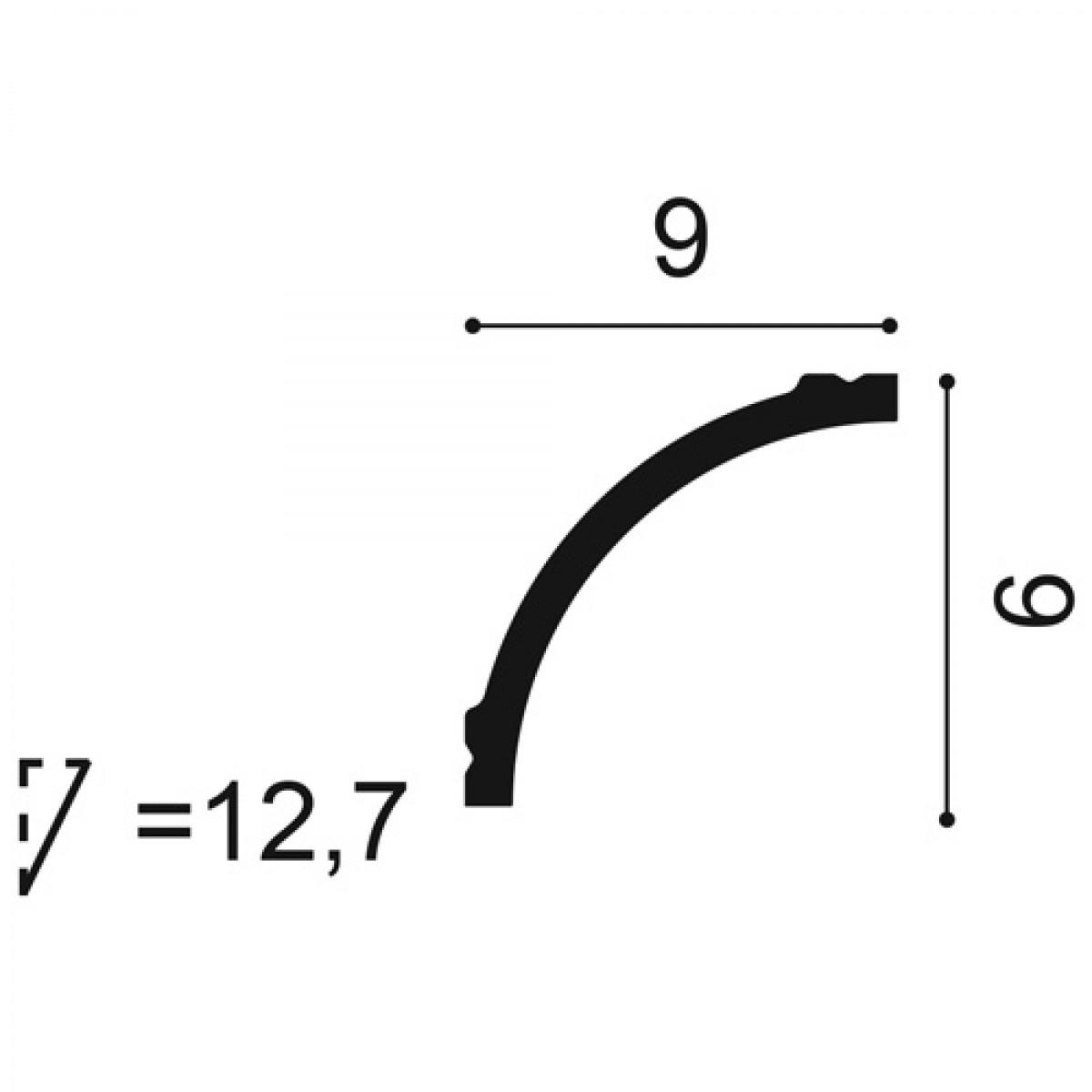 Cornisa Basixx CB524, Dimensiuni: 200 X 9 X 9 cm, Orac Decor