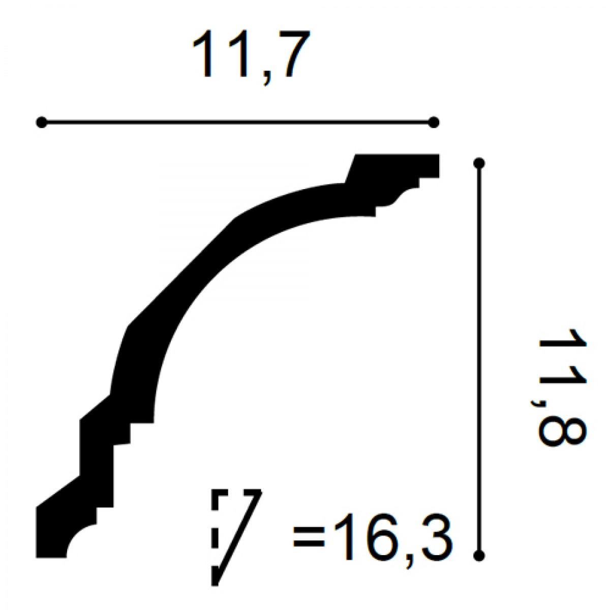 Cornisa Flex Axxent CX106F, Dimensiuni: 200 X 11.7 X 11.8 cm, Orac Decor