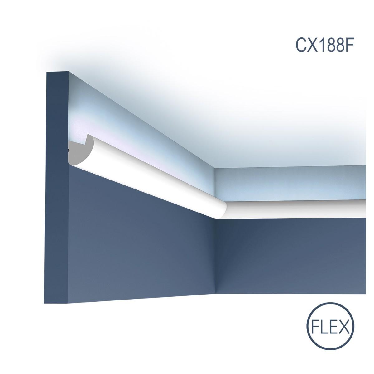Cornisa Flex Axxent CX188F, Dimensiuni: 200 X 3 X 3.4 cm, Orac Decor