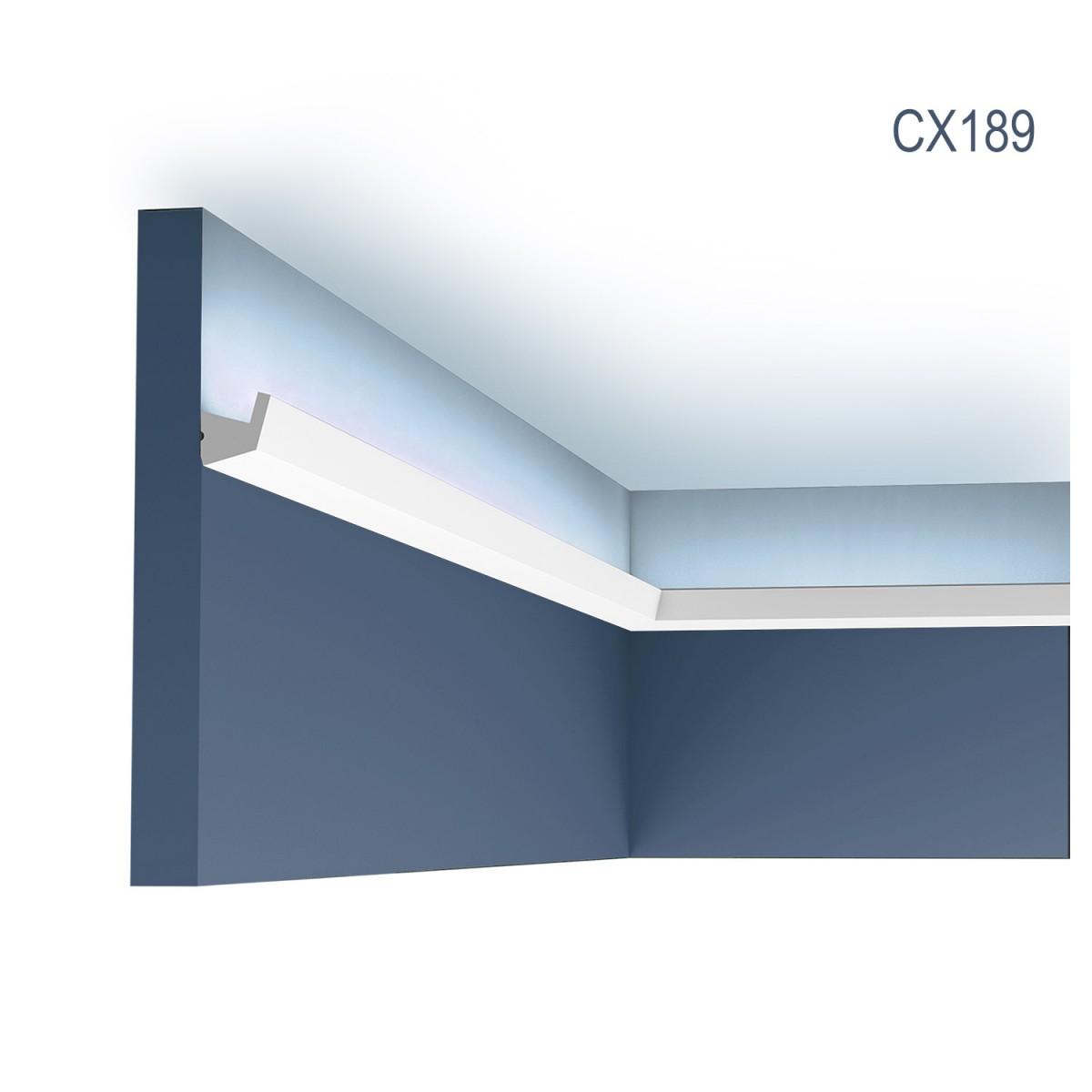 Cornisa Axxent CX189, Dimensiuni: 200 X 2.7 X 2.7 cm, Orac Decor