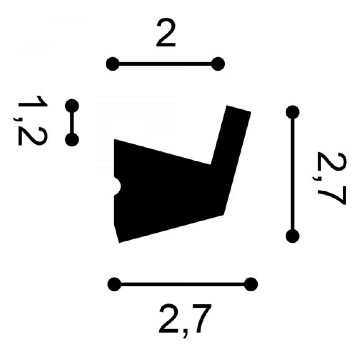 Cornisa Flex Axxent CX189F, Dimensiuni: 200 X 2.7 X 2.7 cm, Orac Decor