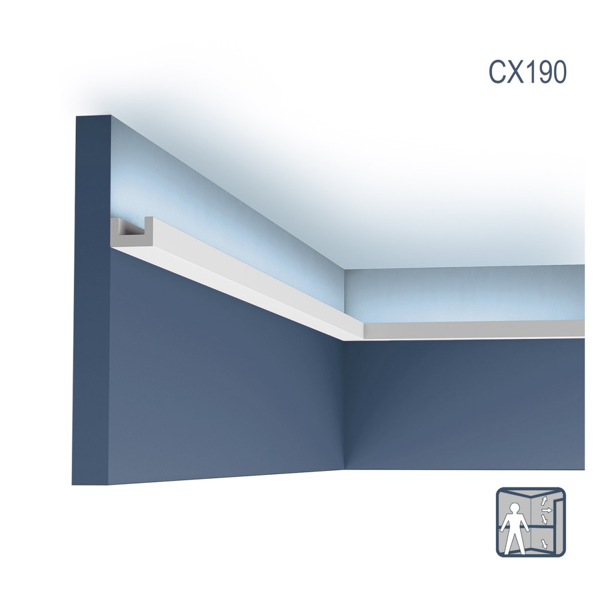 Cornisa Axxent CX190, Dimensiuni: 200 X 2 X 3 cm, Orac Decor