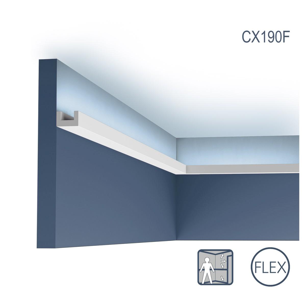 Cornisa Flex Axxent CX190F, Dimensiuni: 200 X 2 X 3 cm, Orac Decor
