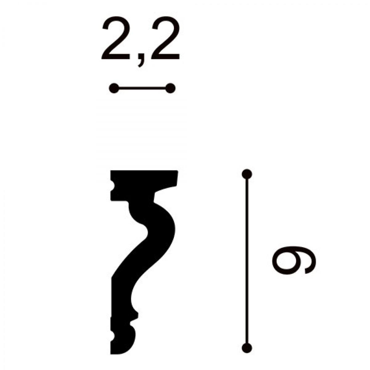 Ancadrament Usa Luxxus DX174-2300, Dimensiuni: 230 X 2.2 X 6 cm, Orac Decor