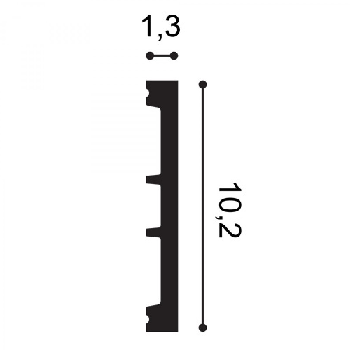 Plinta Flex Axxent SX163F, Dimensiuni: 200 X 1.3 X 10.2 cm, Orac Decor
